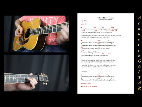 Yellow River, Christie - Guitar Lesson, Tutorial, Cover, Cifra,