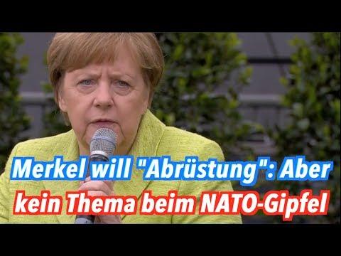 Kirchentag vs. NATO-Gipfel: Merkel spricht von Abrüstung. Mehr aber auch nicht.