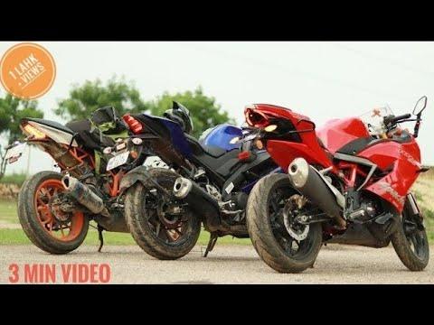 R15 v3 Vs KTM RC Vs RR 310 1st,2nd,3rd,4th Gear Challenge   is R15 do better than ktm !!!!