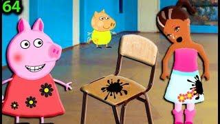 Мультики Свинка Пеппа на русском peppa 64 КРАСКА НА СТУЛЕ Мультфильмы для детей свинка пеппа