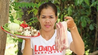 Amazing Cooking Pork With Fish Past Vegetable Delicious -  Cook Pork Recipes  - Village Food Factory