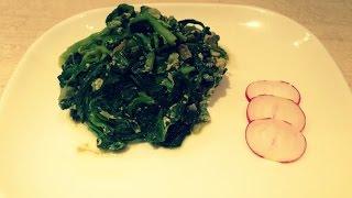 Жареный шпинат с яйцом/армянская кухня/ Просто и вкусно
