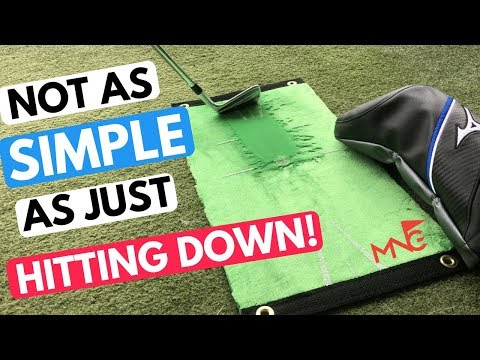 How To Hit Down To Strike Your Irons Pure Without Slicing!!