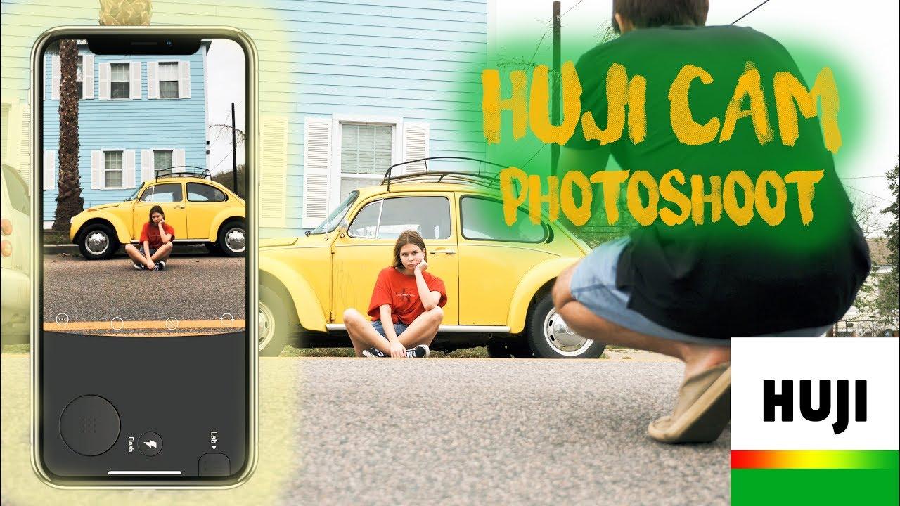 HUJI CAM APP PHOTOSHOOT - MOST POPULAR CAMERA APP 2018 REVIEW