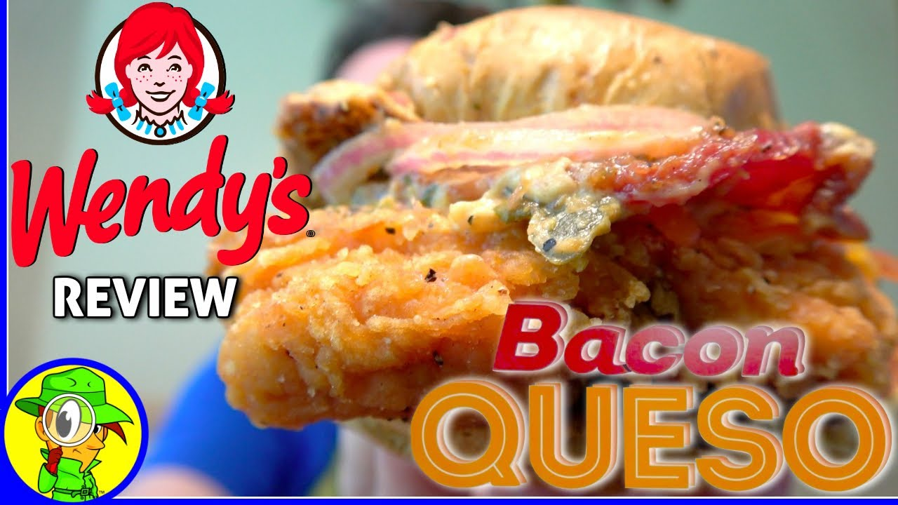 Wendy 39 s bacon queso chicken sandwich review youtube for Wendy s fish sandwich