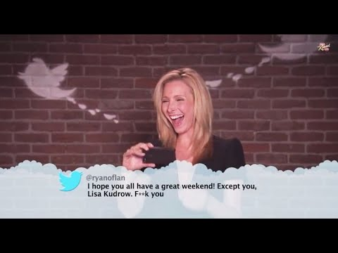 Lisa Kudrow, Matthew Perry, Matt LeBlanc reading Mean Tweets  Friends.