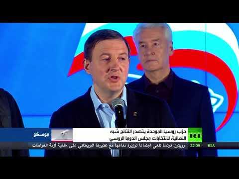حزب -روسيا الموحدة- يتصدر نتائج انتخابات الدوما  - نشر قبل 2 ساعة