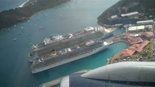Takeoff from St. Thomas STT (inside plane)