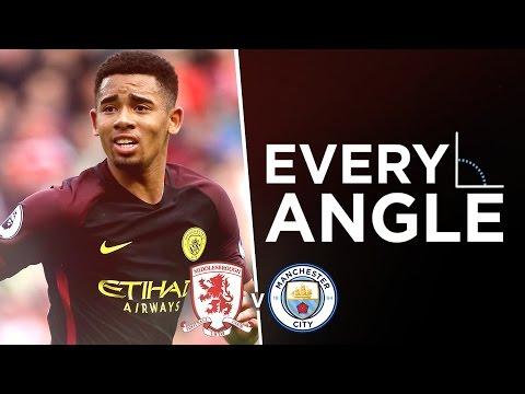 GABRIEL JESUS GOAL: EVERY ANGLE | Middlesbrough 2-2 Man City |