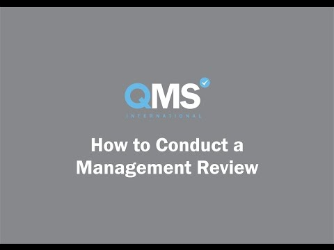 How To Conduct A Management Review