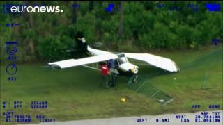 Plane Crash Lands On Driving Track During Police Training Session