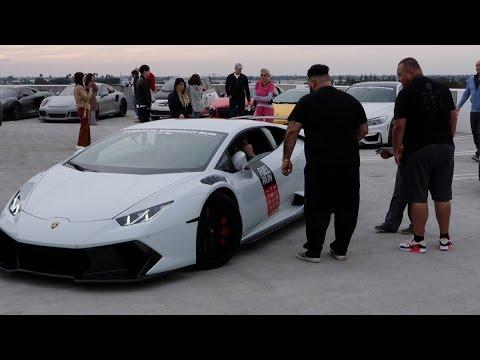 Road Rage: Lamborghini Huracan Gets Punched!