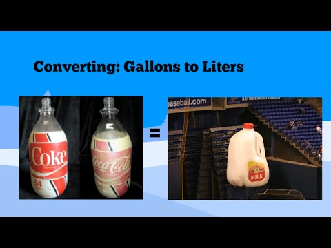 Converting Gallons To Liters And
