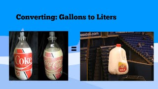 Converting Gallons Liters And Liters Gallons