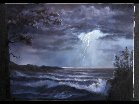 Paint with kevin hill lightning storm cp fun music for Oil painting lessons near me