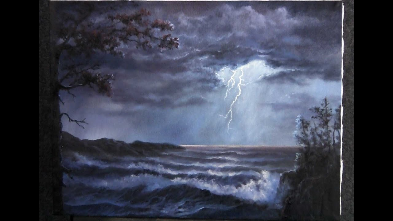 Paint With Kevin Hill  Lightning Storm  Youtube