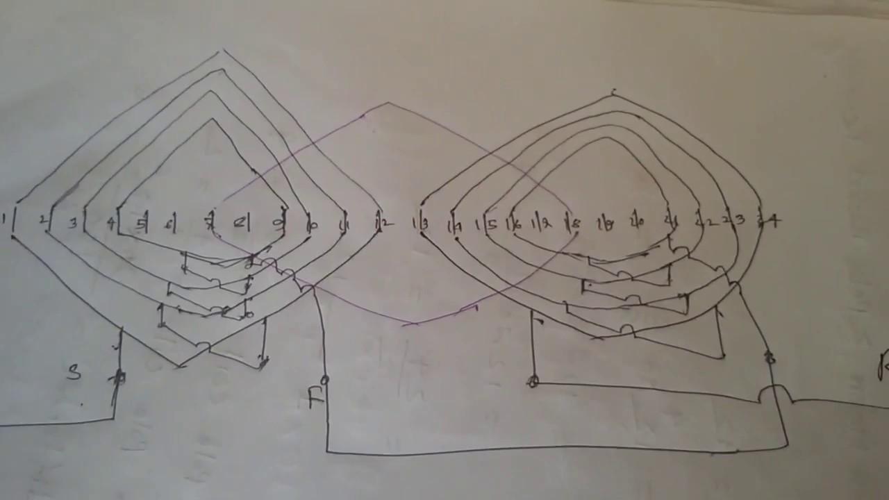 how to make single phase motor 2 pole basket rewinding - YouTube