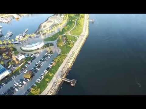 LONG BEACH CALIFORNIA HARBOR AERIAL VIDEO EPIC!