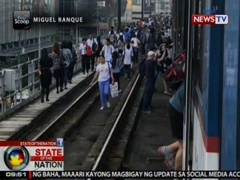 SONA: Mga pasahero ng MRT, pinababa ng tren dahil sa electrical failure sa braking system