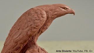 Cómo esculpir y moldear un águila en plastilina - Arte Divierte.