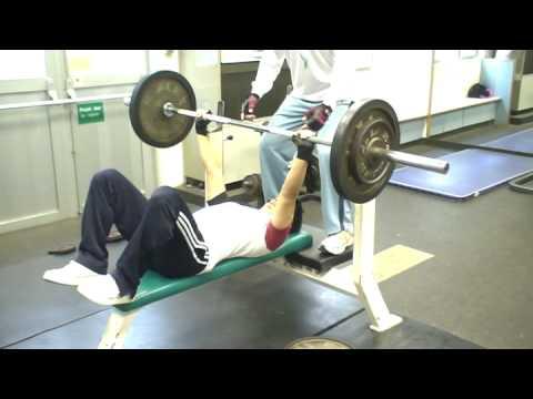 del 80kg bench press youtube