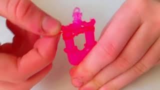 Браслет РЫБИЙ ХВОСТ Наизнанку из резиночек как плести видео Rainbow Loom Inverted Fish Tail Bracelet