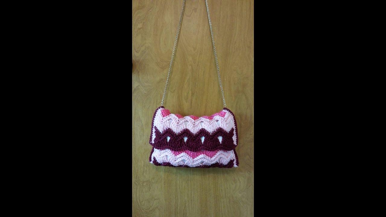 Sling bag crochet - Crochet How To Crochet Vintage Ripple Stitch Handbag Purse Tutorial 101 Learn Crochet Youtube