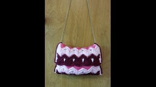 CROCHET How To #Crochet Vintage Ripple Stitch Handbag Purse #TUTORIAL #101