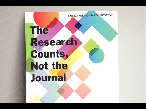 """The research counts, not the journal!"""