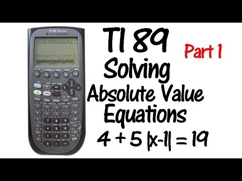 How to Do an Absolute Value Function on the TI-83 Plus