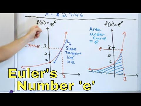 14 - What is Euler's Number 'e', Ln(x) - Natural Log & e^x Functions?