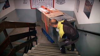 TRANSPORTEUR MONTE ESCALIER PLATEAU BASCULANT vidéo