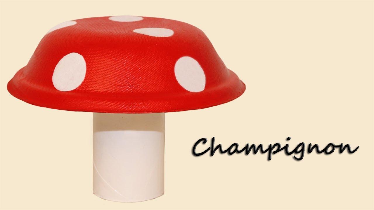 Bricolage champignon avec un bol en carton youtube - Decoration boite en carton ...