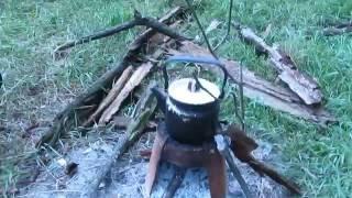 Печка из старого ведра. Как сделать самую простую Печку. Мини - печка