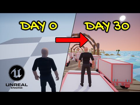 Creating my DREAM Game | 100+ hrs development in 4 mins! | UE4 lowpoly