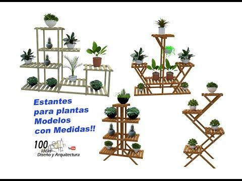 Estantes Para Plantas En Madera, Modelos Con Medidas!!