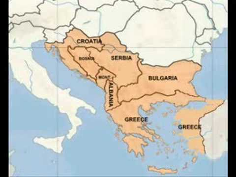 Balkan map / Greater Greece, Bulgaria, Serbia and Croatia! - YouTube