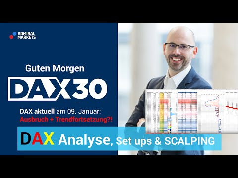 DAX aktuell: Analyse, Trading-Ideen & Scalping | DAX 30 | CFD Trading | DAX Analyse | 09.01.2020