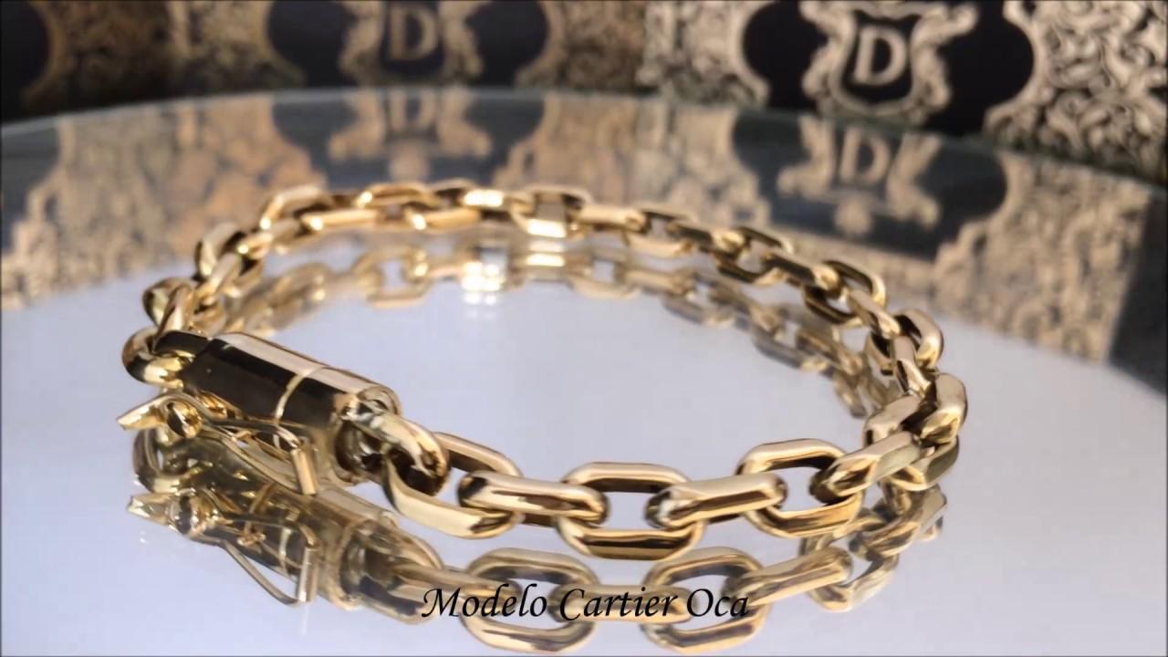 4d2975abca1 Don Joalheria - Pulseira Cartier em Ouro 18k 750 12 gramas - YouTube