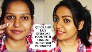 No make up - make up FOR COLLEGE | OFFICE | quick and easy make up for everyday | Dusky skin make up