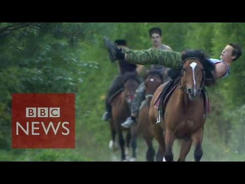 Cossacks riding Russia's patriotic wave - BBC News