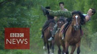 Cossacks riding Russia