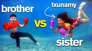 TXUNAMY UNDERWATER Insane Sis vs Bro Photo Challenge
