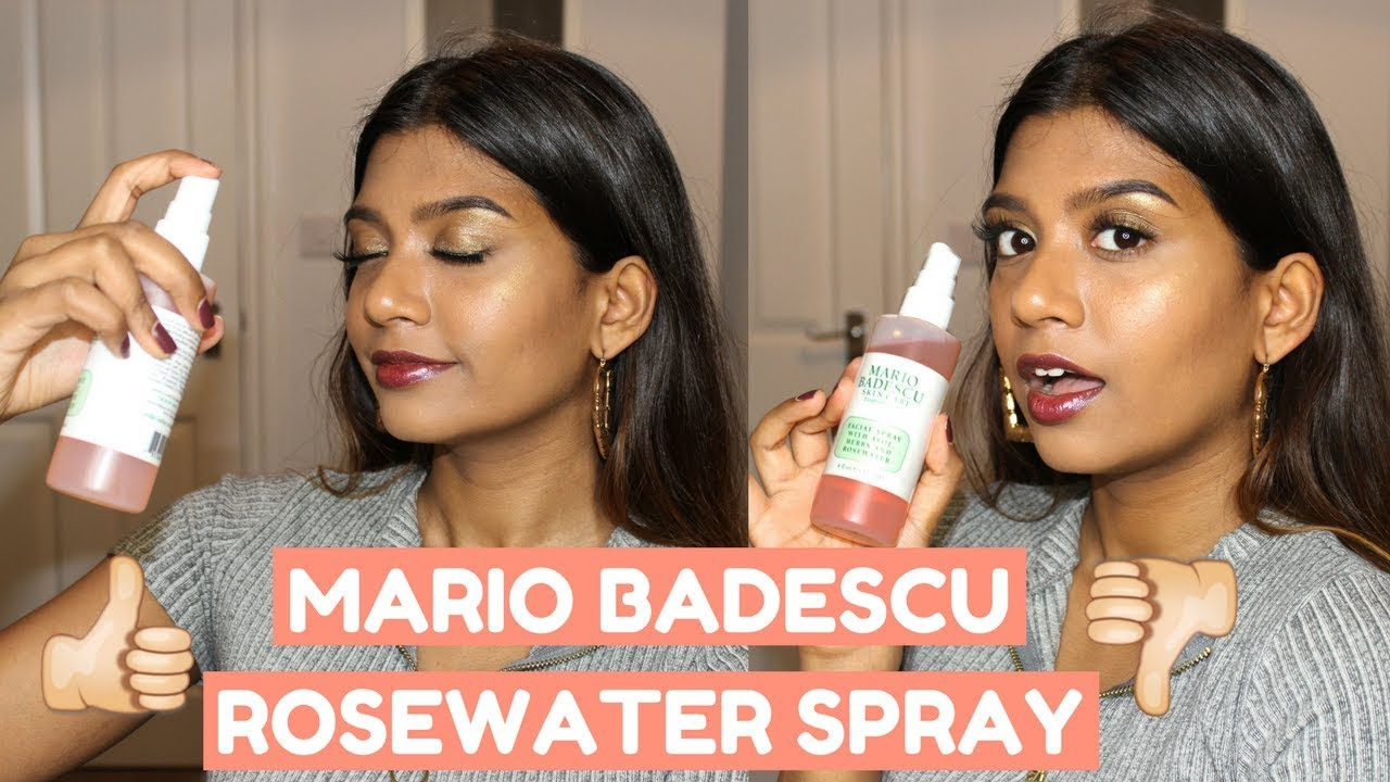 Mario Badescu Rosewater Facial Spray Review Oily Skin
