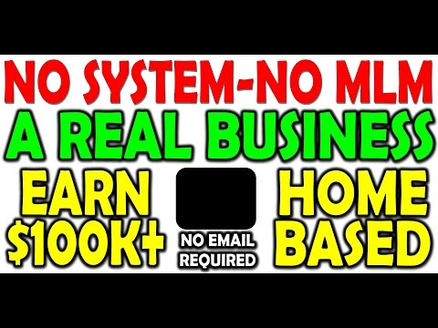 No System~No MLM / A Real Home Based Business!