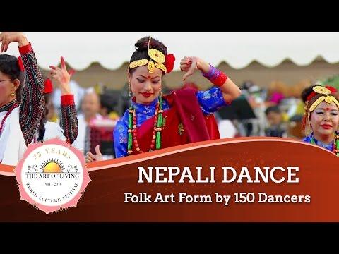 Nepali Dance - Folk Art Form, Nepal | World Culture festival 2016