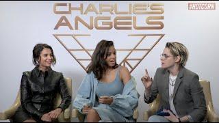 CHARLIE'S ANGELS | Kristen Stewart, Naomi Scott & Ella Balinska interview | HOT CORN