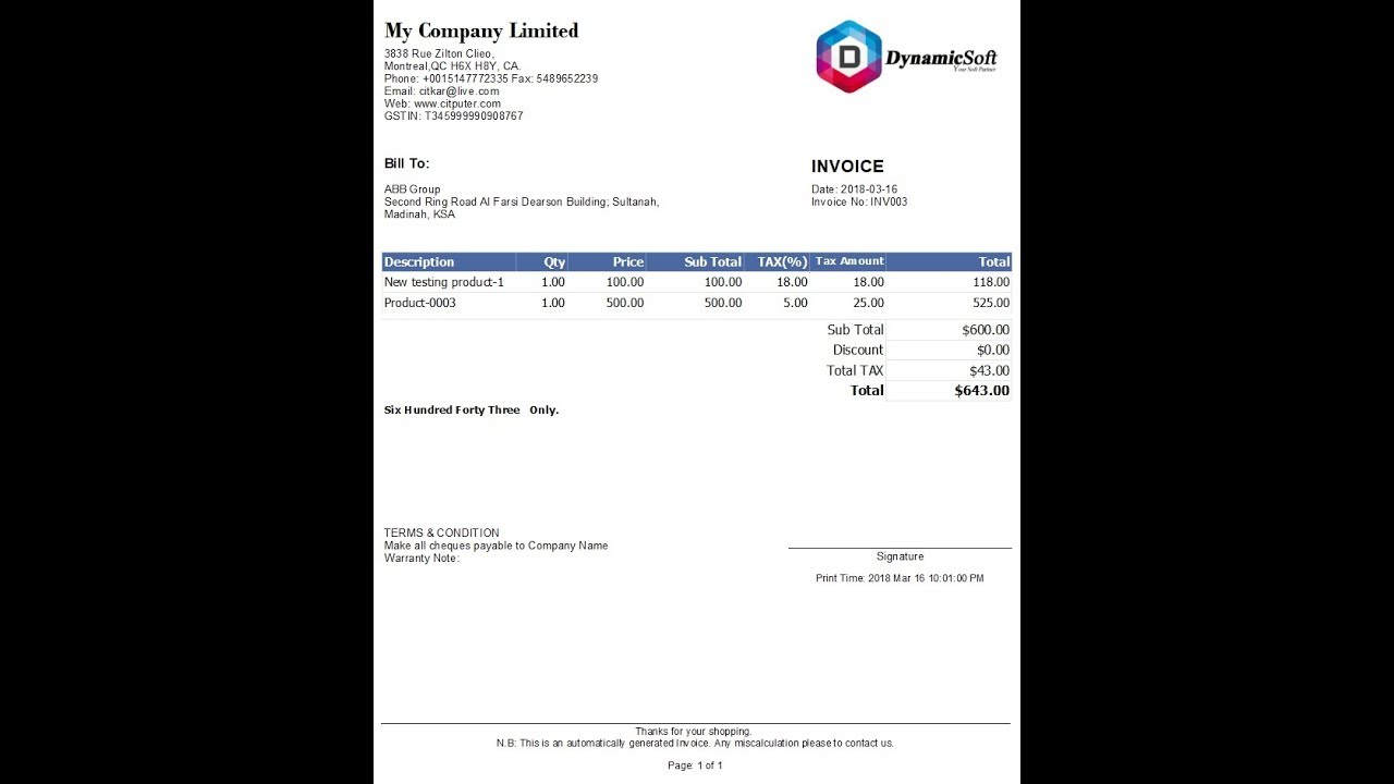 Invoice Generator Simple Invoice Creator Design Youtube