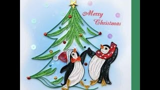 Quilled Christmas Greeting Card - Kids Quilling Art Craft