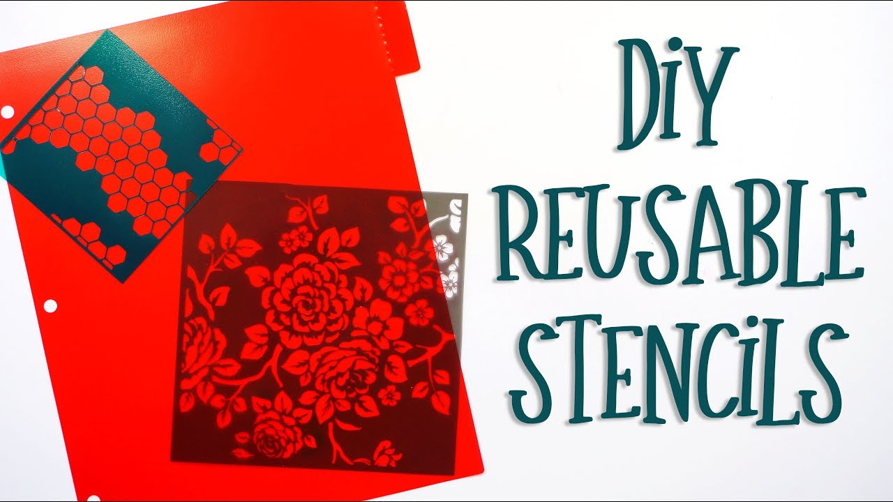 diy reusable stencils silhouette cameo tutorial youtube